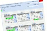 Ein Ausschnitt aus einem Kalenderblatt für 2016 mit Ferien und Feiertagen für das Land Hessen.©Screenshot von http://www.schulferien.org