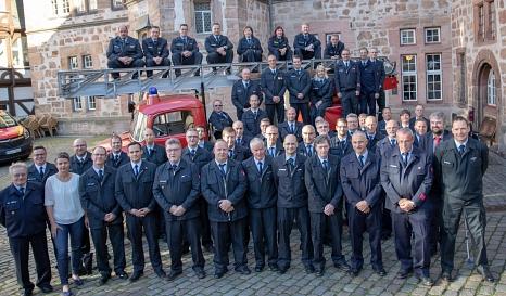 Beim Ehrungsabend der Marburger Feuerwehren sind rund 50 Feuerwehrleute ausgezeichnet worden.©Patricia Grähling, Stadt Marburg