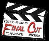 Eine gezeichnete Klappe, wie sie bei Filmaufnahmen eingesetzt wird (oder wurde?), mit dem Schriftzug Final Cut.©Universitätsstadt Marburg