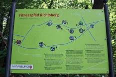 Der Fitnesspfad Richtsberg mit seinen elf Stationen im Überblick.©Stefanie Profus, i.A.d. Universitätsstadt Marburg