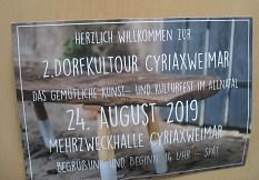 Fleyer 2.Dorfkultuor Cyriaxweimar2019 als Einladung©Bernd Weimer
