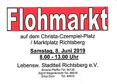Flohmarkt 8. Juni 2019©Lebenswerter Stadtteil richtsberg e.V.