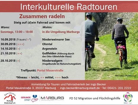 Flyer interkulturelle Radtouren©Universitätsstadt Marburg