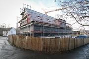 Försterweg1/2: Ein Einzelhaus und ein Langhaus entstehen in moderner Holzhybridbau, einer Kombination aus Stahlbeton und Holzbauweise.