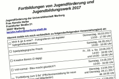 Ein Formular zur Anmeldung zu internen Fortbildungen, gedreht und abgeschnitten.©Universitätsstadt Marburg