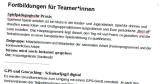 Ein Abschnitt aus einem Anmeldeformular ist dargestellt, der Text behandelt Fortbildungsangebote. Das Dokument, dem der Ausriss entstammen soll, existiert jedoch nicht.©Universitätsstadt Marburg