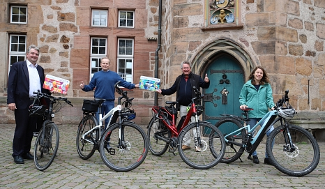 Foto zum neuen Förderprogramm Elektro-Fahrräder©Universitätsstadt Marburg, Thomas Steinforth