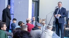 Oberbürgermeister Dr. Thomas Spies spricht auf Einaldung beim Freitagsgebet der Islamischen Gemeinde