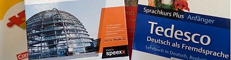 Ausschnitte aus den Titeln von drei Sprachkursen zum Deutschlernen©Universitätsstadt Marburg
