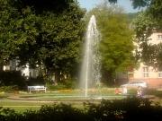 Friedrichsplatz mit zentraler Brunnenfontäne