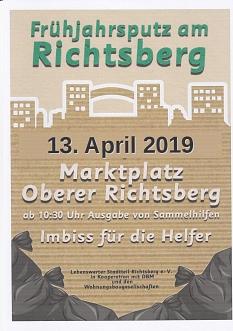 Frühjahrsputz 13. April 2019©Lebenswerter Stadtteil Richtsberg e. V.