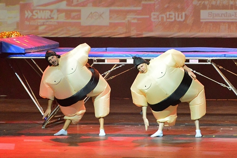 Für Unterhaltung sorgen die Sumo Boys.©Sumo Boys