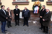 Marian Zachow, Anne Oppermann, Dr. Franz Kahle, Romano Strauß, Dr. Thomas Spies und Heinrich Löwer gedachten der Sinti und Roma, die von den Nationalsozialisten verfolgt und ermordet wurden.