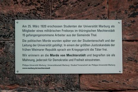 Gedenktafel Morde von Mechterstädt an der Alten Aula©Thomas Hankel