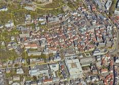 """Geltungsbereich Städtebauförderprogramm """"Lebendige Zentren"""" in der """"südwestlichen Oberstadt"""" der Universitätsstadt Marburg"""