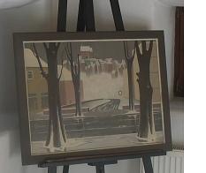 Gemälde von Günther Blau Ansicht Marburgs©Bernd Weimer