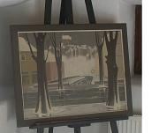 Gemälde von Günther Blau Ansicht Marburgs