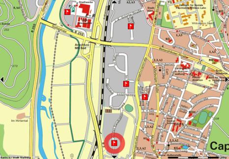 Gewerbegebiet Cappel-Süd, Karte©Universitätsstadt Marburg