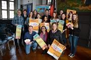 Bürgermeister Dr. Franz Kahle und Stadträtin Dr. Kerstin Weinbach mit den Organisatoren und Teilnehmerinnen undTeilnehmern des Girls' Day und Boys' Day.