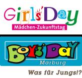 Oben das Logo zum Girls' Day, und jenes zum Boys' Day.©Universitätsstadt Marburg