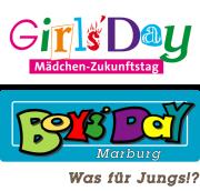 Oben das Logo zum Girls' Day, und jenes zum Boys' Day.