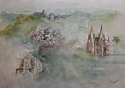 Dieses Motiv von Burgi Scheiblechner ist die Glückwusnschkarte der Stadt Marburg 2020.