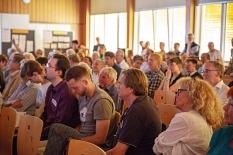 Oberbürgermeister und Bürgermeister freuten sich über die große Resonanz auf die Einladung zum Bürger/innen-Workshop Grüner Wehr und über eine sachliche Diskussion. 200 Marburgerinnen und Marburger waren in den Kaufmännischen Schulen dabei.©Universitätsstadt Marburg