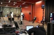 Live aus dem Erwin-Piscator-Haus wurde die Präsentation des Gutachtens gesendet. Die Gutachter standen anschließend noch für Fragen aus dem digitalen Publikum und aus der Verwaltung zur Verfügung.