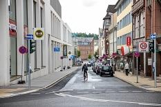Die Gutenbergstraße wird für den Radverkehr künftig in beide Richtungen freigegeben. Die Umsetzung ist noch in diesem Jahr geplant.©Patricia Grähling, Stadt Marburg