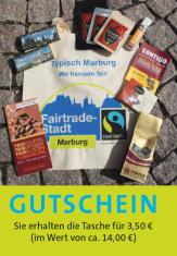 Gutschein für ein Willkommenspaket mit Produkten des Fairen Handels für Neubürgerinnen und Neubürger©Universitätsstadt Marburg