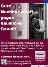 Motiv zu Appell an die Nachbarschaft aus der Kampagne des Projekts Marburg ohne Parnergewalt©Universitätsstadt Marburg