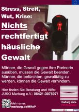 Motiv mit Beratungsangebot Täterarbeit in Marburg aus der Kampagne des Projekts Marburg ohne Partnergewalt©Universitätsstadt Marburg