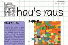 Ein Ausriss der Titelseite von hau's raus Nummer 10, Schwerpunkt Wasser.©Universitätsstadt Marburg