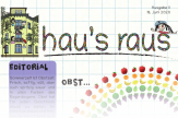 Ein Ausriss der Titelseite von hau#s raus Nummer 11, Thema diesmal: Obst.©Universitätsstadt Marburg
