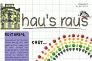 Ein Ausriss der Titelseite von hau#s raus Nummer 11, Thema diesmal: Obst.
