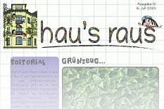 Ein Ausriss der Titelseite von hau's raus Nummer 12, Schwerpunkt Wasser.©Universitätsstadt Marburg