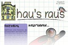 Ein Ausriss der Titelseite von hau's raus Nummer 14, Schwerpunkt Held*innen.©Universitätsstadt Marburg
