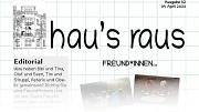 Ein Ausriss aus der Titelseite der zweiten Ausgabe von hau's raus, dem Newsletter der Jugendförderung.