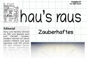 Ein Ausriss der Titelseite des Newsletters hau's raus der Jugendförderung, Ausgabe Nummer 4