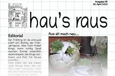 Ein Ausriss der Titelseite von der Newsletter-Ausgabe vom 29. April 2020.©Universitätsstadt Marburg