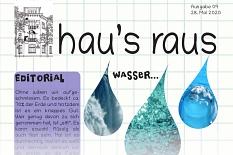 Ein Ausriss der Titelseite von hau's raus Nummer 9, Schwerpunkt Wasser.©Universitätsstadt Marburg
