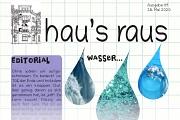 Ein Ausriss der Titelseite von hau's raus Nummer 9, Schwerpunkt Wasser.