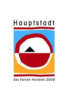 Logo des Ehrentitels: Hauptstadt des Fairen Handels (den Marburg im Jahr 2009 erhalten hatte)©Universitätsstadt MarburgFachdienst Umwelt, Fairer Handel, Abfallwirtschaft