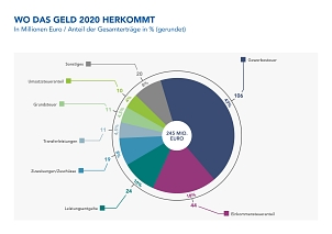 Wo das Geld 2020 herkommt.©Universitätsstadt Marburg