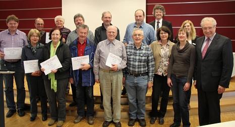 Gewinnerinnen und Gewinner von Gutscheinen für den Austausch einer alten Heizungspumpe im Jahr 2013