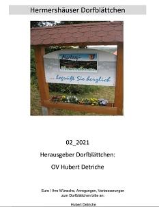 Hermershäuser Dorfblättchen 02_2021_Seite 1©Hubert Detriche