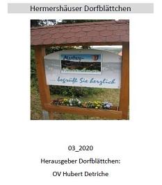 Hermershäuser Dorfblättchen 03.2020©Hubert Detriche