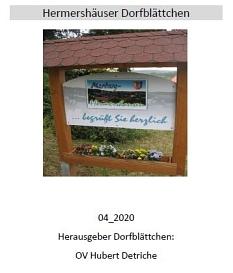 Hermershäuser Dorfblättchen 04_2020©Hubert Detriche