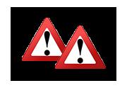 """Verkehrszeichen """"Achtung"""""""