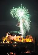 Höhenfeuerwerk zum Stadtfest über dem Landgrafenschloss
